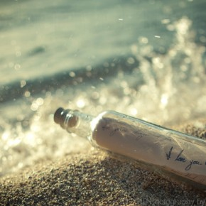 bottle in a sea