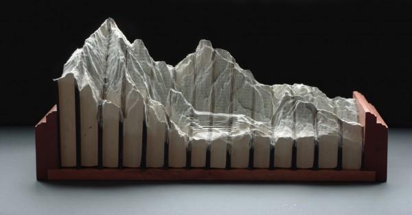 paysage sculpture livre