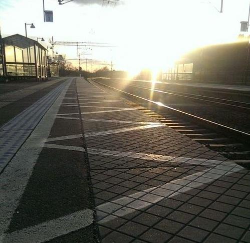quai de gare matin