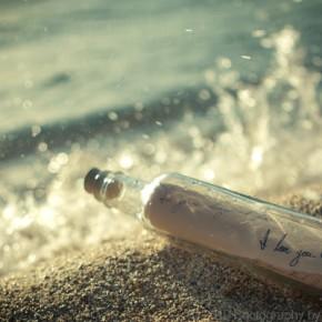 bottle in a sea